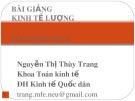 Bài giảng Kinh tế lượng: Chương Mở đầu - Nguyễn Thị Thùy Trang