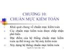 Bài giảng Kiểm toán cơ bản: Chương 10 -  Th.S. Nguyễn Thị Thanh Diệp