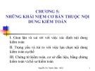 Bài giảng Kiểm toán cơ bản: Chương 5 -  Th.S. Nguyễn Thị Thanh Diệp