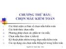 Bài giảng Kiểm toán cơ bản: Chương 7 -  Th.S. Nguyễn Thị Thanh Diệp