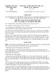 Nghị quyết số 10/2017/NQ-HĐND Tỉnh Thừa Thiên Huế