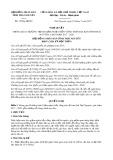 Nghị quyết số 15/NQ-HĐND Tỉnh Thái Nguyên