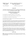 Nghị quyết số 13/2017/NQ-HĐND Tỉnh Cao Bằng