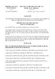 Nghị quyết số 24/2017/NQ-HĐND Tỉnh Vĩnh Phúc