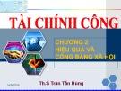 Bài giảng Tài chính công: Chương 2 - Th.S Trần Tấn Hùng
