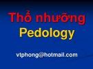 Bài giảng Thổ nhưỡng: Chương Thổ nhưỡng - Võ Thanh Phong