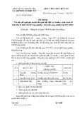 Tờ trình số 01-TT/CB-NNKN
