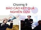 Bài giảng Nghiên cứu marketing: Chương 9 - ThS. Dư Thị Chung