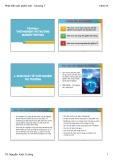 Bài giảng Phát triển sản phẩm mới: Chương 7 - TS. Nguyễn Xuân Trường
