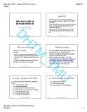 Bài giảng Phân tích và thiết kế hệ thống thông tin - ĐH Thương Mại