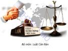 Bài giảng Luật hành chính Việt Nam - ĐH Thương Mại
