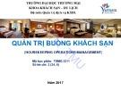 Bài giảng Quản trị buồng khách sạn - ĐH Thương Mại