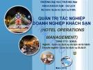Bài giảng Quản trị tác nghiệp doanh nghiệp khách sạn - ĐH Thương Mại