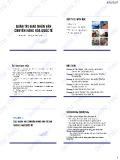 Bài giảng Quản trị giao hàng nhận vận chuyển hàng hóa quốc tế - ĐH Thương Mại