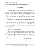 Tiểu luận: Công tác quản trị và lãnh đạo tại tập đoàn kinh tế Vinashin