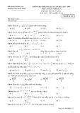Đề kiểm tra giữa HK 1 môn Toán lớp 12 năm học 2017-2018 - Sở GD&ĐT Đồng Nai - Mã đề 132