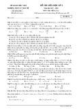 Đề thi giữa HK 1 môn Vật lý lớp 12 năm học 2017-2018 - THPT Lý Thái Tổ - Mã đề 132