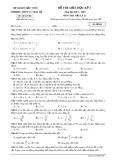 Đề thi giữa HK 1 môn Vật lý lớp 12 năm học 2017-2018 - THPT Lý Thái Tổ - Mã đề 485