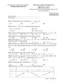 Đề kiểm tra giữa HK 1 môn Toán lớp 12 năm học 2017-2018 - THPT B Hải Hậu