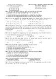 Đề thi giữa HK 1 môn Vật lý lớp 12 năm học 2017-2018 - THPT Chuyên Lương Thế Vinh - Mã đề 121