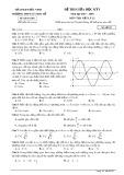 Đề thi giữa HK 1 môn Vật lý lớp 12 năm học 2017-2018 - THPT Lý Thái Tổ - Mã đề 357