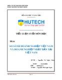 Tiểu luận: So sánh doanh nghiệp Việt Nam và doanh nghiệp Nhật Bản tại Việt Nam