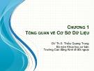 Bài giảng Cơ sở dữ liệu: Chương 1 - Th.S Thiều Quang Trung