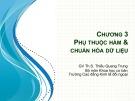 Bài giảng Cơ sở dữ liệu: Chương 3 - Th.S Thiều Quang Trung