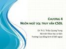 Bài giảng Cơ sở dữ liệu: Chương 4 - Th.S Thiều Quang Trung