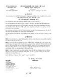 Quyết định số 24/2017/QĐ-UBND Tỉnh Bạc Liêu