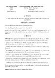 Quyết định số 1939/QD-TTg năm 2017