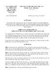 Quyết định số 1219/QĐ-BCĐ năm 2017