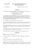 Quyết định số 2413/QD-BTC
