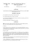 Quyết định số 1898/QD-TTg năm 2017