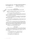 Quyết định số 98/QĐ-BCĐODA