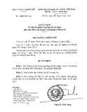 Quyết định số 1589/QD-TTg năm 2014