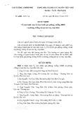 Quyết định số 2083/QĐ-TTg năm 2016