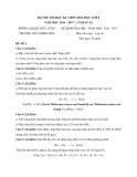 5 Đề thi HK 1 môn Hóa học lớp 8 năm 2016-2017 - Phòng GD&ĐT Hữu Lũng