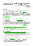 Đề kiểm tra HK 1 môn Vật lí lớp 10 năm 2016-2017 - THPT Lương Phú - Mã đề 101