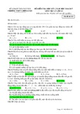 Đề kiểm tra HK 1 môn Vật lí lớp 10 năm 2016-2017 - THPT Lương Phú - Mã đề 102