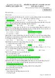 Đề kiểm tra HK 1 môn Vật lí lớp 10 năm 2016-2017 - THPT Lương Phú - Mã đề 108