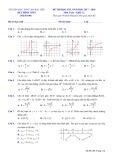 Đề kiểm tra HK 1 môn Toán lớp 12 năm 2017-2018 - Sở GD&ĐT Bạc Liêu - Mã đề 640