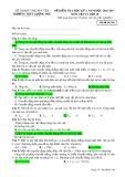 Đề kiểm tra HK 1 môn Vật lí lớp 10 năm 2016-2017 - THPT Lương Phú - Mã đề 106