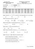 Đề kiểm tra HK 1 môn Toán lớp 12 năm 2017-2018 - THPT Lý Thánh Tông - Mã đề 002