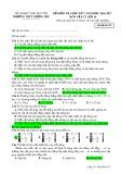 Đề kiểm tra HK 1 môn Vật lí lớp 10 năm 2016-2017 - THPT Lương Phú - Mã đề 107