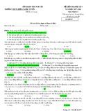 Đề kiểm tra HK 1 môn Vậtlí lớp 12 năm 2017-2018 - THPT Lương Ngọc Quyến - Mã đề 017