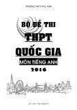 Bộ đề thi THPT Quốc gia môn tiếng Anh năm 2016