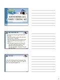 Bài giảng Tin học Quản lý SPSS: Chương 4 - Phạm thị Mộng Hằng
