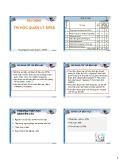 Bài giảng Tin học Quản lý SPSS: Chương 0 - Phạm thị Mộng Hằng