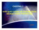 Bài giảng Pháp luật về thương mại hàng hóa dịch vụ: Chương 1